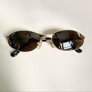 Accessories - Vintage Gold Slim Retro Style Oval Sunglasses